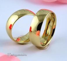 Sárga 7mm Arany karikagyűrű, jegygyűrű