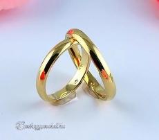 Sárga 3mm Arany karikagyűrű, jegygyűrű
