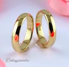 Domború 4mm Sárga karikagyűrű