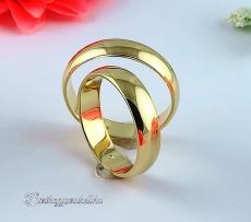 Sárga 5mm Arany karikagyűrű, jegygyűrű