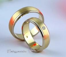 LK-244 Arany karikagyűrű, jegygyűrű