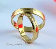 LK-266 Arany karikagyűrű, jegygyűrű