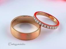 LK-268 Arany karikagyűrű, jegygyűrű