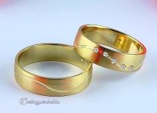 LK-293 Arany karikagyűrű, jegygyűrű
