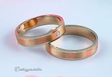 LK-303 Arany karikagyűrű, jegygyűrű