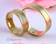 LK-319 Arany karikagyűrű, jegygyűrű
