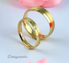 LK-334 Arany karikagyűrű, jegygyűrű