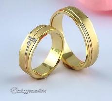 LK-347 Arany karikagyűrű, jegygyűrű