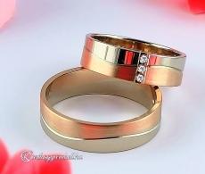 LK-358 Arany karikagyűrű, jegygyűrű