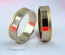 LK-375 Arany karikagyűrű, jegygyűrű