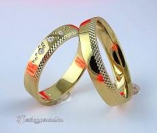 LK-379 Arany karikagyűrű, jegygyűrű
