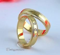 LK-404 Arany karikagyűrű, jegygyűrű