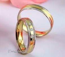 LK-406 Arany karikagyűrű, jegygyűrű