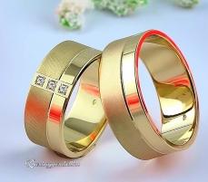 LK-413 Arany karikagyűrű, jegygyűrű