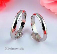 Domború 3mm Fehér karikagyűrű