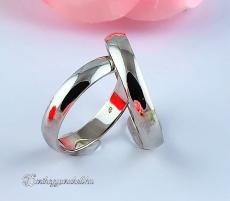 Fehér 4mm Arany karikagyűrű, jegygyűrű
