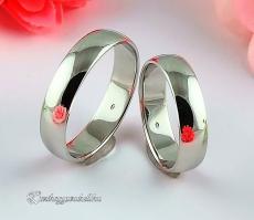 Fehér 5mm Arany karikagyűrű, jegygyűrű