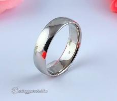 Fehér 6mm Arany karikagyűrű, jegygyűrű