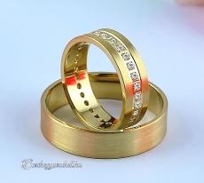 LK-418 Arany karikagyűrű, jegygyűrű
