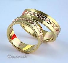 LK-461 Arany karikagyűrű, jegygyűrű