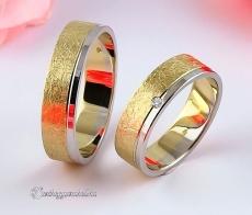 LK-491 Arany karikagyűrű, jegygyűrű (Jégmatt!)