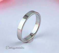LK-3mm Lapos Arany karikagyűrű, jegygyűrű