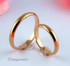 Vörös 3mm Arany karikagyűrű, jegygyűrű
