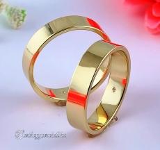 Lapos 5mm Sárga karikagyűrű