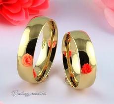 Domború 6mm Sárga karikagyűrű
